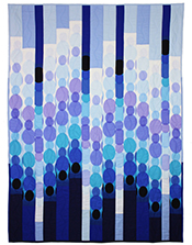 Blue Raindot Bargello