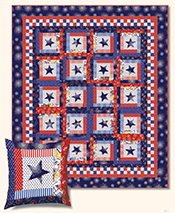 Patriotic Stars Quilt & Star Bright Pillow