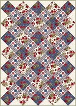 Red and Blue...and Roses, Too! Lattice Quilt